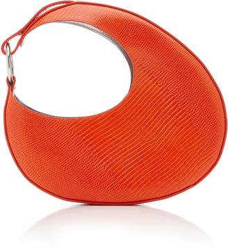 Carolina Santo Domingo Ostra Mini Snake-Effect Leather Top Handle Bag