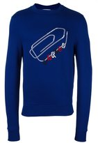 Carven embroidered paper clip sweatshirt