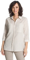 Chico's Textured Stripe Shirt