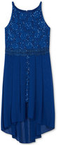 Amy Byer High-Low Sequin Dress, Big Girls (7-16)