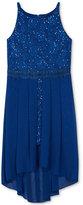 BCX High-Low Sequin Dress, Big Girls (7-16)
