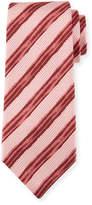 Kiton Painted Striped Silk Tie