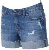 JLO by Jennifer Lopez Women's Distressed Cuffed Jean Shorts