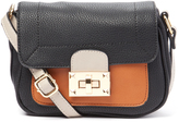 Kathy Ireland Black Color Block Crossbody Bag