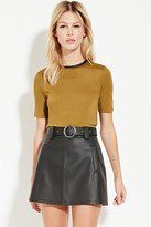 Forever 21 Contemporary Zip-Back Top