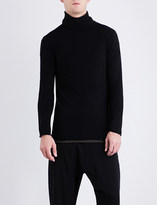 Isabel Benenato Turtleneck fine-knit cotton and wool-blend jumper
