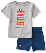 Under Armour Baby Boys 12-24 Months Baller Tee & Solid Shorts Set