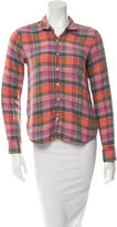 Steven Alan Plaid Flannel Button-Up