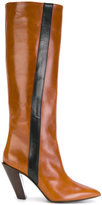 A.F.Vandevorst knee high boots with stripe