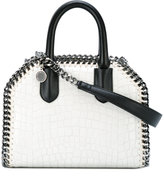 Stella McCartney White Falabella Box alligator effect Mini Shoulder bag