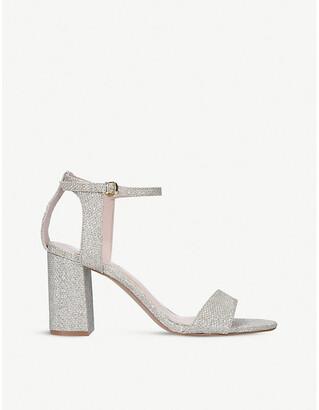Carvela Kiki glitter-woven heeled sandals