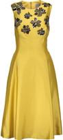 Lela Rose Embellished wool and silk-blend dress