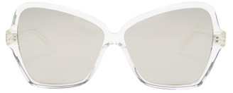 Celine Oversized Butterfly Acetate Sunglasses - Womens - Silver