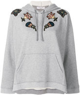 Valentino floral embroidered hoodie