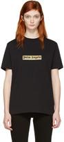 Palm Angels Black Glitter Logo T-shirt
