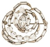 Gucci Round Crystal Brooch