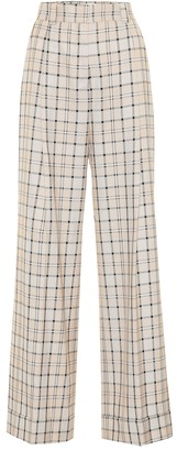 See by Chloe Checked high-rise straight pants