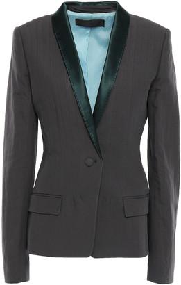 Haider Ackermann Satin-trimmed Cotton, Linen And Silk-blend Blazer