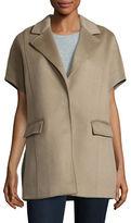 Eleventy Oversized Wool-Blend Sleeveless Coat