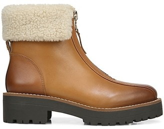Sam Edelman Jacquie 2 Lug-Sole Faux Fur-Lined Leather Combat Boots