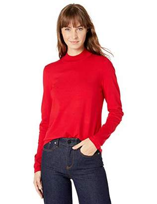 Lark & Ro Warm Handed Synthetic Mock Neck SweaterL