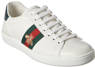 Gucci Ace Embroidered Leather Sneaker