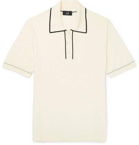 Dunhill Contrast-Tipped Cotton Polo Shirt