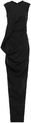 Rick Owens Ellipse Split-back Draped Jersey Gown