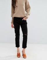 J Brand Caitlin Knee Rip Boyfriend Jeans