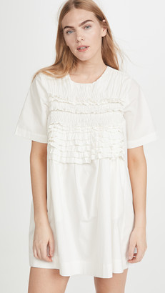 ENGLISH FACTORY Ruffle Tee Dress