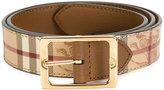 Burberry house check belt - women - Cotton/Calf Leather/PVC - 75