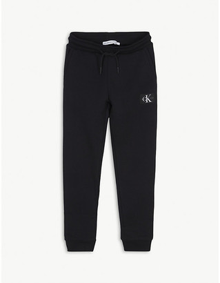 Calvin Klein Jeans Logo print organic cotton jogging bottoms 4-16 years