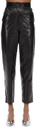 Maryam Nassir Zadeh High Waisted Leather Pants