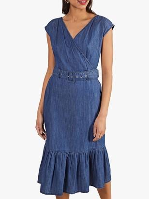 Yumi Denim Gypsy Dress, Blue