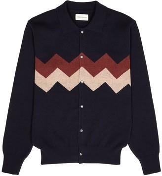 Oliver Spencer Roxwell Navy Wool Cardigan