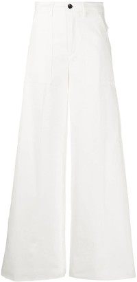 DEPARTMENT 5 High-Waisted Wide Leg Trousers