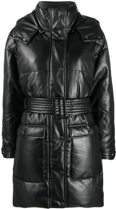 Apparis Faux Leather Padded Coat