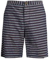 Oliver Spencer Striped Cotton Shorts