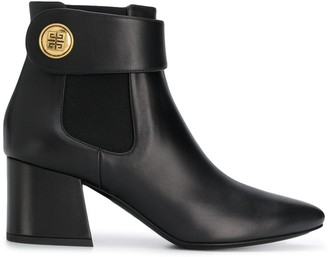 Givenchy logo button ankle boots