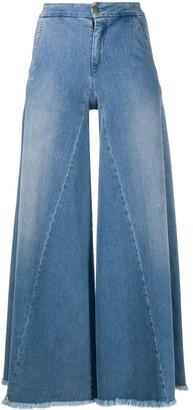 FEDERICA TOSI High-Rise Flared Godet Jeans