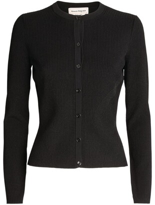 Alexander McQueen Knitted Button-Up Cardigan