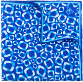 Canali geometric pattern pocket square