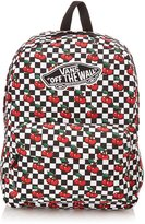 Vans Realm Womens Backpack Cherry Checkers Black True White