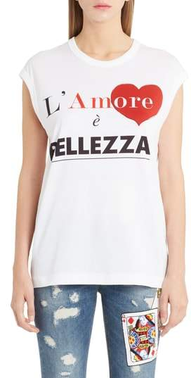 Dolce & Gabbana Amore Graphic Tank Top