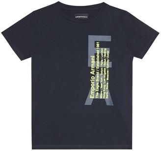 Emporio Armani Kids Logo stretch-cotton T-shirt