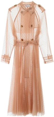RED Valentino Plumetis Tulle Long Trench