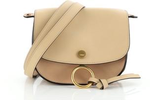 Chloé Kurtis Shoulder Bag Leather and Suede Mini