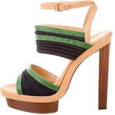 Balenciaga Leather Platform Sandals