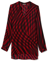 Vince Camuto Abstract Check Blouse