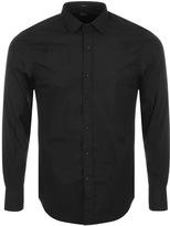 Replay Long Sleeved Slim Fit Shirt Black